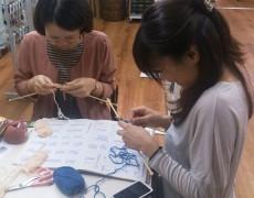 お裁縫教室を開催しました! ~編み物編~