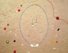 絹糸と天然石のペンダント&イヤリングを作るワークショップ