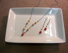 絹糸と天然石のネックレス&イヤリングを作るワークショップ