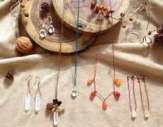 絹糸と天然石のペンダント&イヤリングを作る会